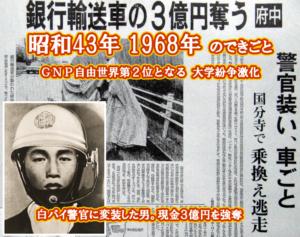 昭和43年 3億円強奪
