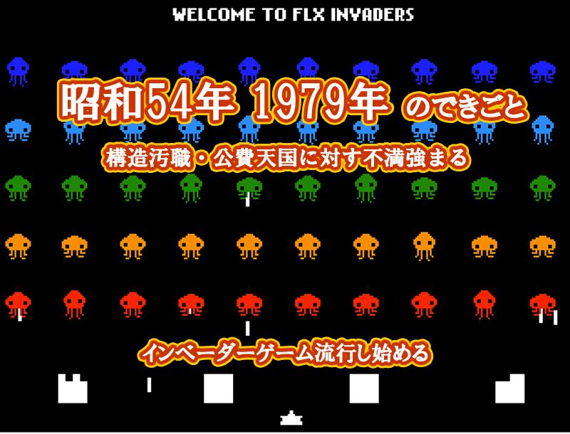 昭和55年 インベーダーゲーム