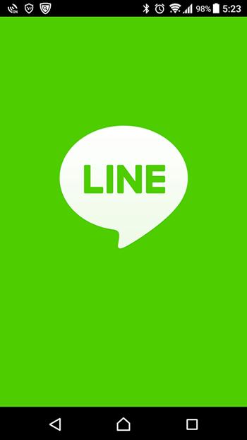 LINE トップ画面