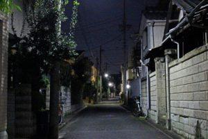 夜の帰り道