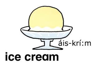 こども英語 ice cream