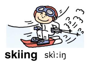 こども英語 skiing
