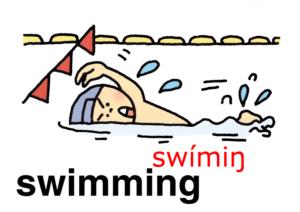 こども英語 swimming