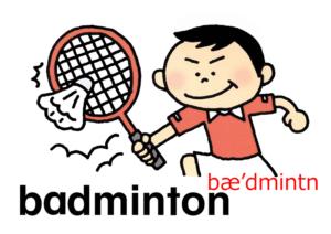 こども英語 badminton