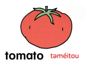 こども英語 tomato