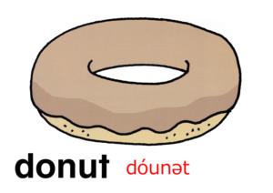 こども英語 donut