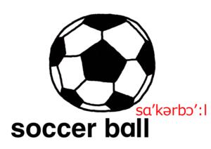 こども英語 soccer ball