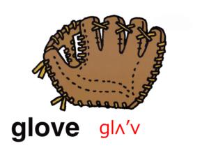 こども英語 glove