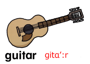 こども英語 guitar