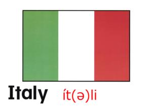 こども英語 Italy