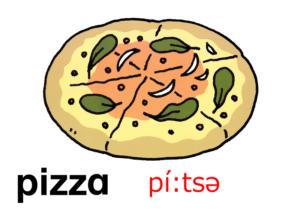 こども英語 pizza