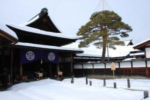 高山陣屋に降り積もった雪