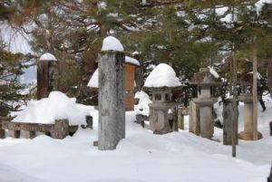 鉄舟の両親の墓