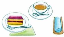 お茶の並べ方