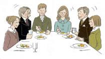 婚約の食事会