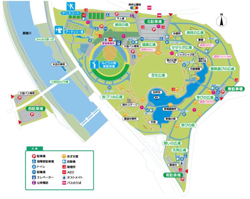 森林公園マップ